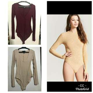 ORIGINAL F21 V-Neck  BODY SUIT