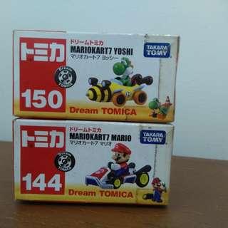 Tomica Mario Kart 7 Mario & Yoshi set of 2 Takara Tomy MIB
