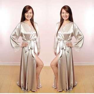 silver taylor bridal robe