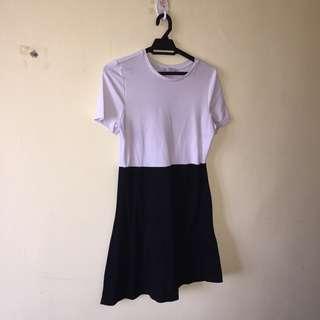 ZARA Black and White Dress