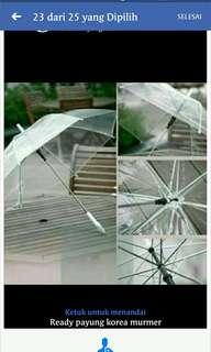 Payung korea transparant