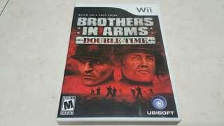 Wii Brothers In Arms Double Time Nintendo original game