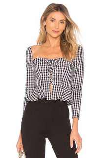 Vintage Checkered Square neck top 💘