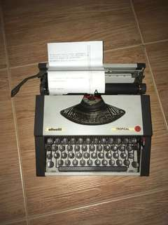 Vintage Typewriter - Olivetti Tropical