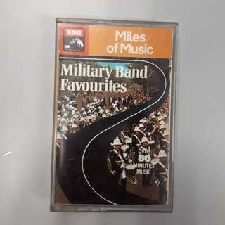"""Old Time Memory Audio Collection:  Cassette  Tape """"Military Band  Favorite """""""