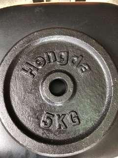 🚚 純鐵槓片5公斤