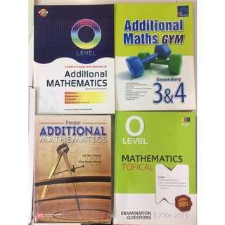 GCE O Level Additional Mathematics Assessment Books (12 books for $70)