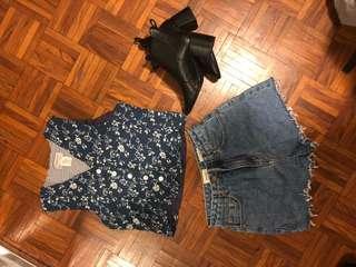 Vintage Navy floral waist coat size 8