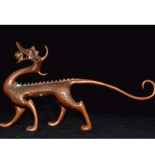 旧時郷下收集  赤銅製  四大神獣之一  青龍