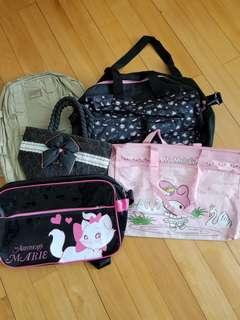 兒童背包/斜孭袋/手袋5個