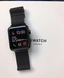 🚚 桃園可面交 Apple Watch Series 3 (GPS) 42mm LTE版 太空黑色不鏽鋼