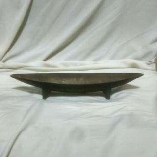 🚚 古董禪意銅花器(淺台)