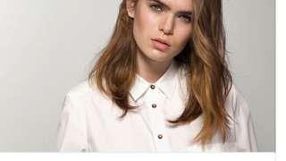 [二手]西班牙品牌 Massimo Dutti 白色棉質挺版襯衫 S號 #女裝半價拉