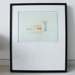 Framed Print - Abstract Section Sketch
