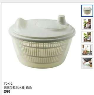 🚚 蔬果沙拉脫水器, 白色