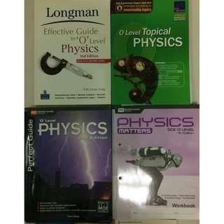 GCE O Level Physics Assessment Books (6 books for $30)