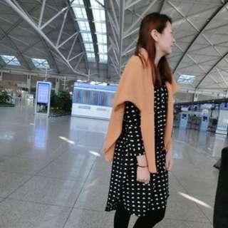 [二手]東區韓貨店Mira 雲朵圖案長版滑布襯衫洋裝  #女裝半價拉