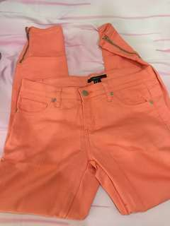 Jeans peachy pink
