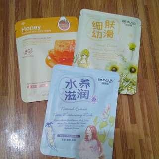 Pack of 3 Korean Face Masks