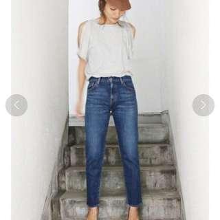 日本品牌 Ungrid 日本製大熱賣顯瘦美腳小直筒牛仔褲 25  #女裝半價拉