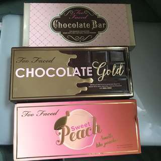BRAND NEW TOO FACED EYESHADOW PALETTES