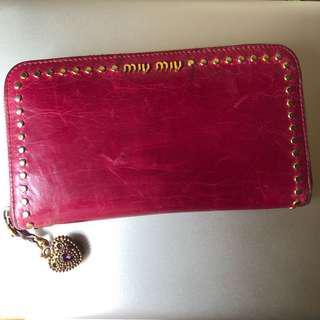 Miu Miu Zippy Long Wallet