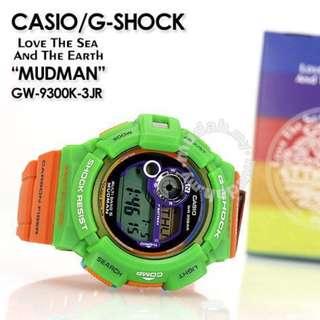 G-Shock ICERC Love the Sea and the Earth Parrot Mudman GW-9300KJ-3JR