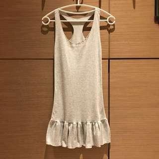 🚚 灰色棉質背心洋裝內搭#女裝半價拉