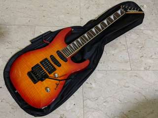 1998 Jackson Dinky DK2 Japan Poplar Flame Maple Top Vintage Electric Guitar Upgraded with Kent Armstrong Pickups