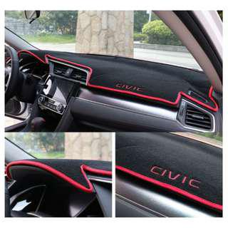 Dashboard Cover Mat for Honda CIVIC FC 2016-2018