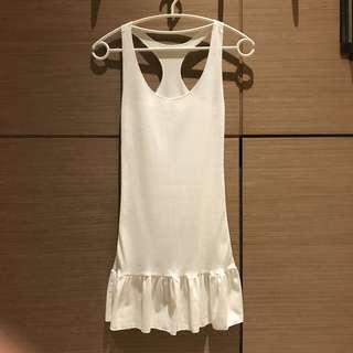 🚚 白色棉質背心洋裝內搭#女裝半價拉