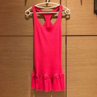 🚚 桃紅棉質背心洋裝內搭#女裝半價拉