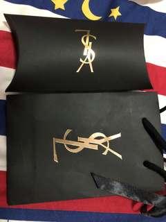YSL口紅的袋子和盒子