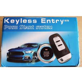 Cars Push Keyless start Auto Locking Button
