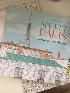 ADULT COLORING BOOK Secret Paris