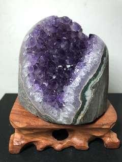Amethyst Crystal slab 内凹的紫晶镇 815g