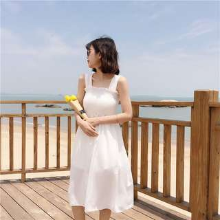 [3 Colours] Summer Beach Korean Dress