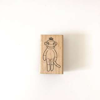 Judi kins monkey wood rubber stamp