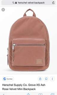 AUTHENTIC Ash Rose Herschel Supply Co Backpack