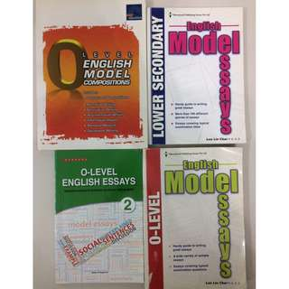 GCE O Level English Assessment Books (6 books for $30)