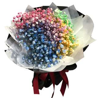 🚚 Rainbow Breaths (Coloured Baby's Breath Bouquet)