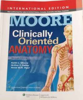 Moore Clinically Oriented Anatomy 7th edition(latest)