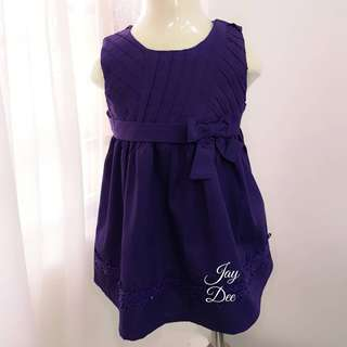 ❤️Baby Cotton Dress (Ribbon Dark Purple)❤️