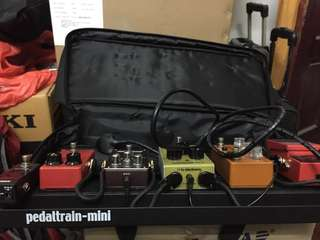Guitar Pedalboard -Pedaltrain Spark with 2 pedals