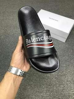Balenciaga 18ss 巴黎世家 春夏新款經典羊皮拖鞋