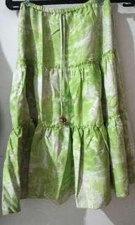 X-Korz green flare skirt