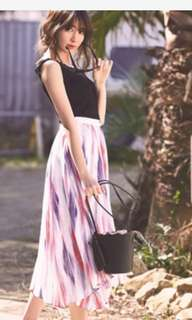 日本品牌 Rirandture 日本製渲染雪紡裙 紅色M號 #女裝半價拉