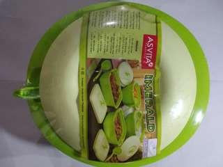 Asvita emerald wadah penyimpanan makanan bulat 1.5ltr
