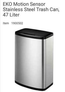 ECO 47 litre Motion Sensor stainless Steel Trash Bin
