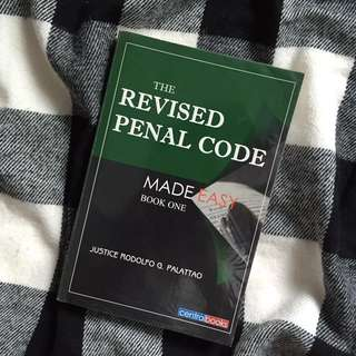 PALATTAO The Revised Penal Code Made Easy (Book I)